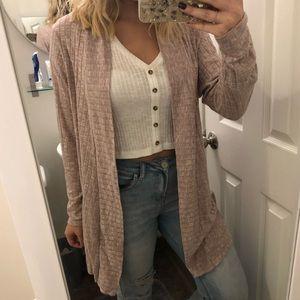 Pink Charlotte Russe cardigan